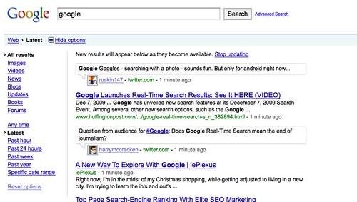"""Liveblogging The Google's Web Search """"Evolution"""" Event"""