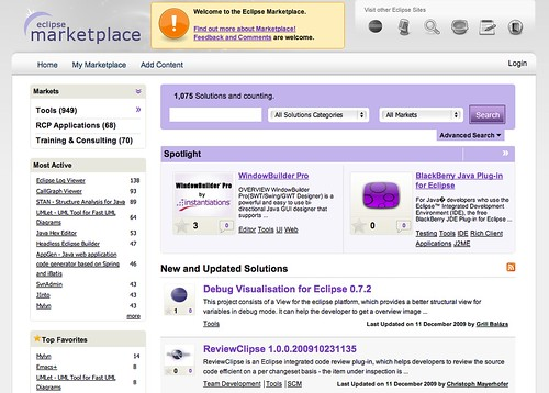 Marketplace of Eclipse using Drupal