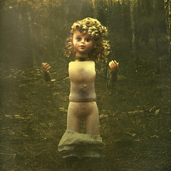 portrait of the artist (brookeshaden) Tags: forest doll alone decay perverse feral halfhuman brookeshaden