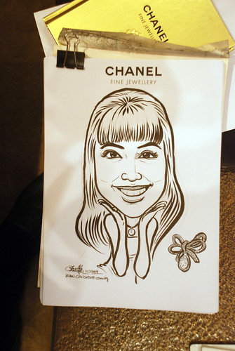 Caricature live sketching for Chanel Day 2 - 3