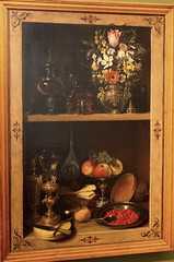 Georg FLEGEL, Shelf with a bunch of flowers, around 1610 (Ondra Havala) Tags: wood flowers art history museum canon painting gallery prague sigma galerie exposition national frame painter oil highiso flegel georg 1610 olej malba noisereduction 2470 sternberg palc 40d canon40d ternbersk