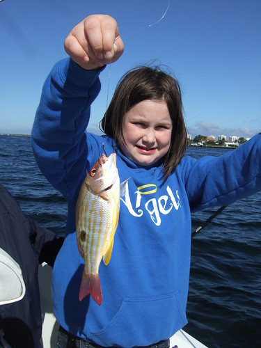 Sienna catches a Lane Snapper!