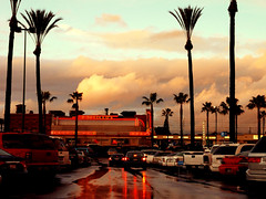 (OrangeCounty_Girl) Tags: california storm reflection wet beautiful rain cali clouds parkinglot palmtrees raindrops orangecounty bp oc raining buenapark stormclouds portillos dropsofwater wetness hnc orangecountygirl hollyclark 79714 buenaparkmall hollyclark714 hnc714 holly714