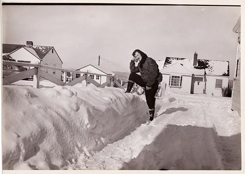 Snow, Portland, Jan 1954