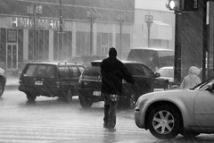 cold hard rain (damonabnormal) Tags: street city urban blackandwhite bw cold philadelphia wet water rain canon january streetphotography pa thunderstorm philly phl rainfall 2010 hardrain 40d