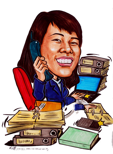 Caricature of Super multi-tasker
