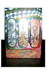 FACE 03 (.  F L F  .) Tags: art peace box buddha ghost monk tibet caixa meditation ilustration buda grafite monge franciscofreitas