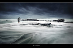 Man Vs Wild (brentbat) Tags: ocean storm rocks longreef kajo