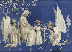 by Margaret Tarrant (sofi01) Tags: art illustration angel children religion vintagepostcard oldpostcard vintageillustration margarettarrant