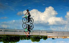 vlo dans les nuages ! (philippejack) Tags: park city sky france nature water architecture clouds reflections river garden landscape geotagged mirror europe bordeaux miroir garonne velo gironde blueribbonwinner aplusphoto goldenphotographer geo:lon=0568371 geo:lat=44840899 cubbordeaux