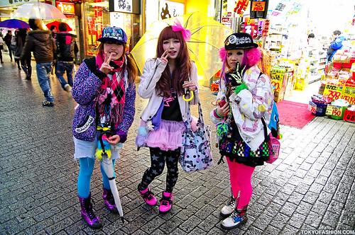 Cute in the rain in Tokyo
