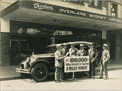 The 100,000th Willys-Overland exported car, outside Overland Sydney Ltd office, 1920 - 1929