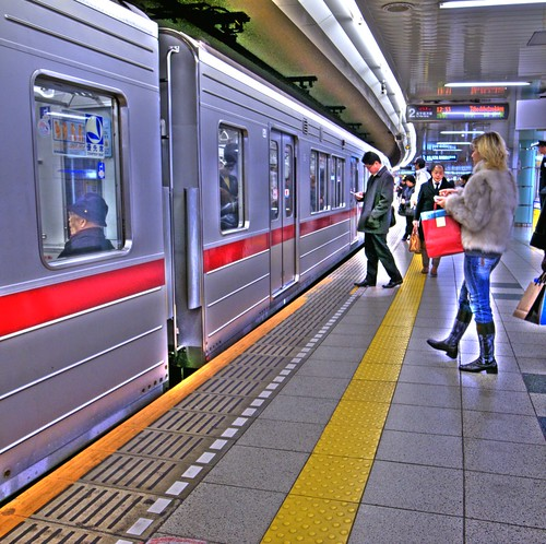 Hibiya Line at Roppongi Station