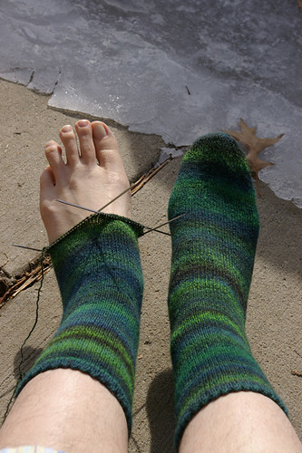 Nebula Socks - Progress