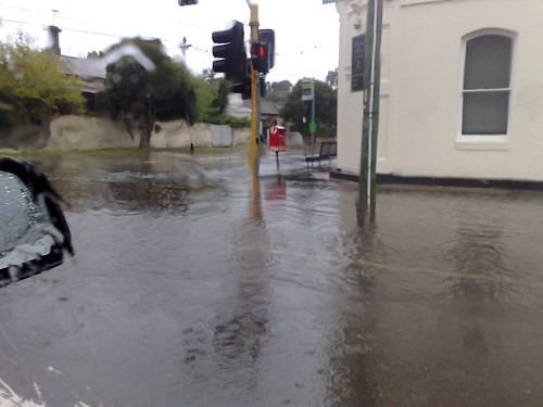 Balaclava Road flooded