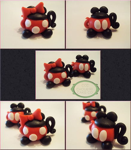 Mickey & Minnie Teapot Cupcake Toppers