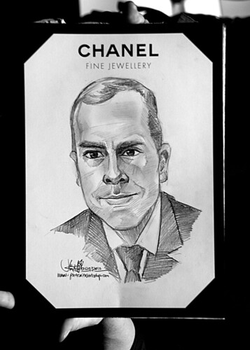 Portrait live sketching for Chanel Fine Jewellery Exhibition Day 3 - 4