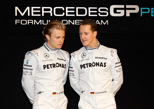 Rosberg和Schumacher