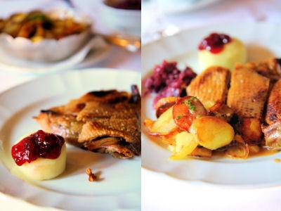 Famous crispy duck dish