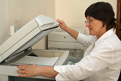 Phtocopier in use