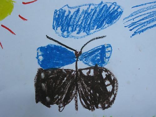 紫斑蝶季活動小朋友留下蝴蝶畫