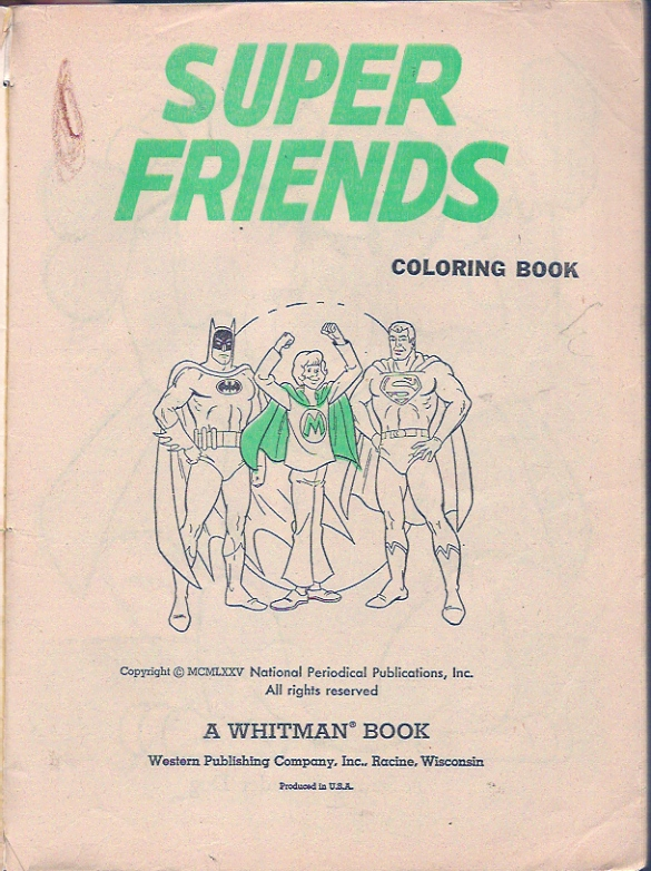 Jons Random Acts of Geekery CBT Super Friends Coloring Book
