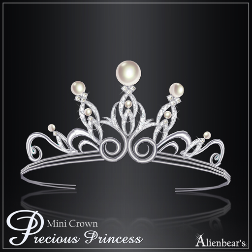 Precious Princess Mini Crown white