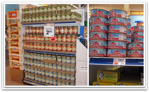 Canned fish for Passover
