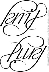 """Knit"" & ""Purl"" Ambigram"
