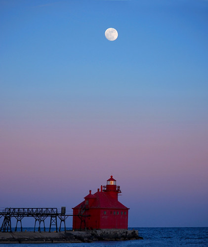 Moonrise, Sturgeon Bay, Wisconsin