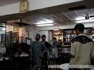 Inside Moghlai restaurant