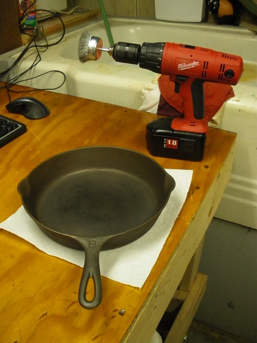 Preparing to remove rust