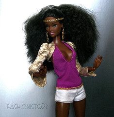 Goddess Nikkita (fashionisto2k) Tags: fashion hair doll nikki ooak barbie skipper clothes teen mattel fever blackbarbie fashionfever rebodied aabarbie barbieaa