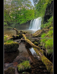 Downstream (rob wolstenholme) Tags: wood portrait england art wales woodland landscape countryside waterfall spring britain wideangle brecon beacons biodiversity wolstenholme pontneddfechan rockpaper waterfallcountry robwolstenholme robertwolstenholme imageseen