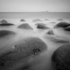 Nanven Boulders (Adam Clutterbuck) Tags: uk greatbritain sea england blackandwhite bw seascape beach monochrome square landscape mono blackwhite rocks cornwall unitedkingdom britain bn boulders elements gb granite bandw sq limpets brisons greengage nanven porthnanven adamclutterbuck progo sqbw bwsq showinrecentset novagallery