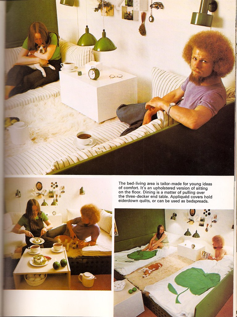tailor-made for young ideas of comfort: How to Decorate Without Going Broke (Woman Alive, 1974)