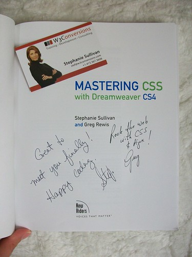 Book signed by Stephanie Sullivan and Greg Rewis