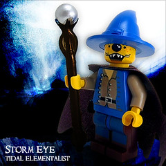 Storm Eye, Tidal Elementalist (Morgan190) Tags: halloween scary lego creepy custom m19 minifigure morgan19 minfiig