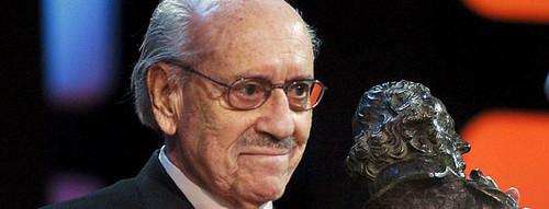 José Luis López Vázquez recibiendo el Goya en el 2005