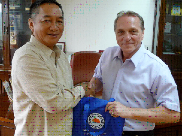 Here the Chairman of PRA, Gen. Edgar Aglipay Welcome the Chairman of F.A.C. Alfred Lehnert, To be interviewed by Europeans largest TV station ARD from GERMANY, at Sept.8. 2009