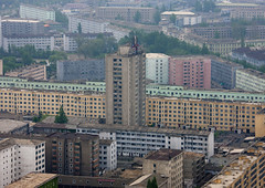 Pyongyang buildings view - North Korea (Eric Lafforgue) Tags: architecture buildings town war asia view korea asie coree vue northkorea pyongyang dprk coreadelnorte 1896 batiments nordkorea    coreadelnord   insidenorthkorea  rpdc  kimjongun coreiadonorte
