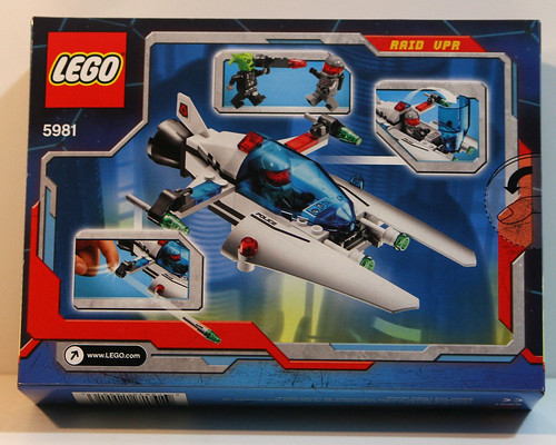 LEGO Space Police 5981 - RAID VPR - Back of Box