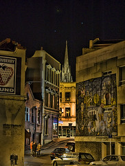 Dunedin Nightscape (Ian@NZFlickr) Tags: street night lights bravo place stuart nz otago dunedin lower aotearoa stree moray floodlighting flickrsbest thesuperbmasterpiece