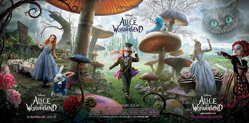 mega poster HD Alicia en el País de las Maravillas