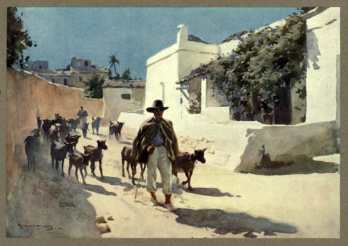 021- Un cabrero murciano-An artista in Spain 1914- Michael Arthur C.