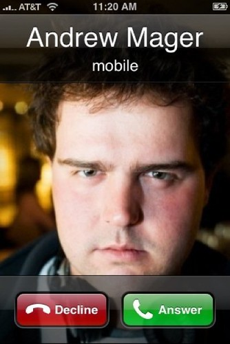 Incoming Call From Andrew Mager