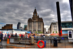 Starting the Manchester Ship Canal Cruise (Tony Shertila) Tags: england weather clouds river canal europe day cloudy merseyside liverbuilding