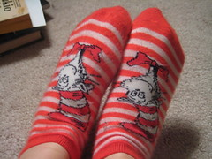 cat in the hat socks! (Auralynn When?) Tags: socks drseuss catinthehat