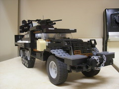 M16 Halftrack, front view (formula_bird) Tags: truck lego military turret aa halftrack maxon m3halftrack