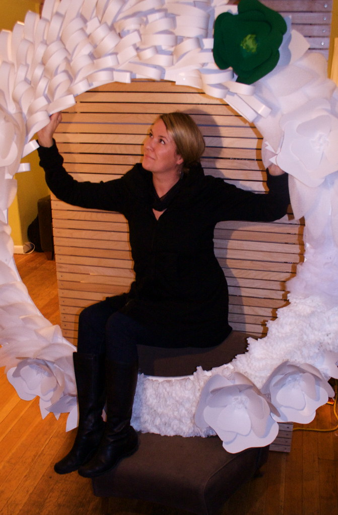 Jessica:: Giant custom wreath in white